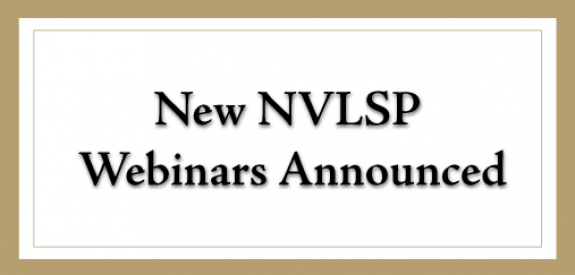 image for New NVLSP Webinars Announced