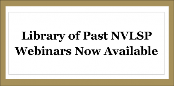 image for Library of Past NVLSP Webinars now Available